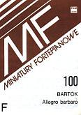 Okładka: Bartók Béla, Allegro barbaro