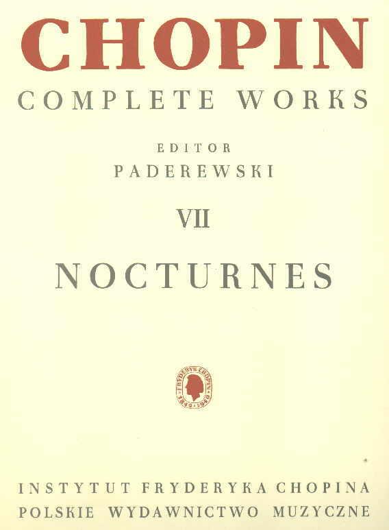 Okładka: Chopin Fryderyk, Nocturnes (CW VII)
