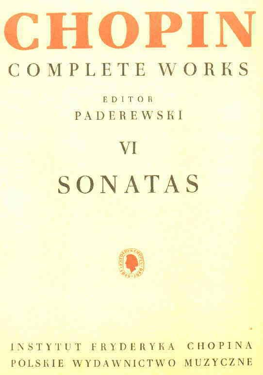 Okładka: Chopin Fryderyk, Sonaty CW VI