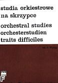 Okładka: Wyląg Janusz, Studia orkiestrowe na skrzypce Utwory symfoniczne Grażyny Bacewicz