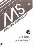 Okładka: Bach Johann Sebastian, Aria z suity D-dur