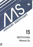 Ok�adka: Beethoven Ludwig van, Menuet Es-dur
