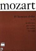 Okładka: Mozart Wolfgang Amadeusz, IV Koncert D-dur KV 218 na skrzypce i fortepian