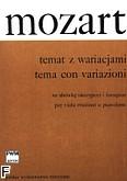 Ok�adka: Mozart Wolfgang Amadeusz, Temat z wariacjami z divertimenta D-dur