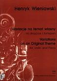 Ok�adka: Wieniawski Henryk, Wariacje na temat w�asny op. 15