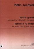 Okładka: Locatelli Pietro, Sonata g-moll na skrzypce  lub altówkę i fortepian