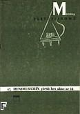 Okładka: Mendelssohn-Bartholdy Feliks, Pieśń bez słów nr 14