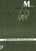 Ok�adka: Mendelssohn-Bartholdy Feliks, Pie�� bez s��w nr 14