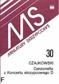 Okładka: Czajkowski Piotr, Canzonetta z Koncertu skrzypcowego D-dur, op. 35