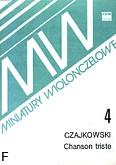 Okładka: Czajkowski Piotr, Chanson triste op. 40 nr 2