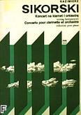 Okładka: Sikorski Kazimierz, Koncert na klarnet i orkiestrę (wyciąg fortepianowy)