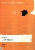 Ok�adka: Chopin Fryderyk, �yczenie