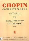 Okładka: Chopin Fryderyk, Utwory na fortepian i orkiestrę CW XXI (partytura)