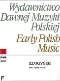 Okładka: Szarzyński Stanisław Sylwester, Iesu Spes Mea (score + parts)