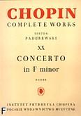 Ok�adka: Chopin Fryderyk, Koncert f-moll op. 21, CW XX (partytura)