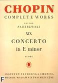 Okładka: Chopin Fryderyk, Koncert e-moll op. 11, CW XIX (partytura)