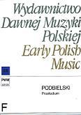 Ok�adka: Podbielski J., Praeludium per organum vel clavicymbalum