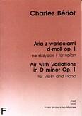 Okładka: Bériot Charles-Auguste de, Aria z wariacjami d-moll op. 1