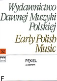 Okładka: Pękiel Bartłomiej, 2 patrem per chorum quattuor vocum (partytura)