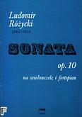 Okładka: Różycki Ludomir, Sonata op. 10