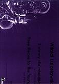 Okładka: Lutosławski Witold, Trzy utwory dla młodzieży