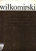 Okładka: Wiłkomirski Kazimierz, 12 etiud w I pozycji