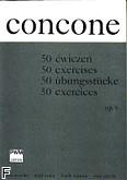 Ok�adka: Concone Giuseppe, 50 �wicze� na g�os wysoki z fortepianem op. 9 (partytura)