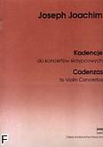 Okładka: Joachim Joseph, Kadencje do koncertów skrzypcowych (solo)