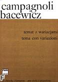 Okładka: Campagnoli Bartolomeo, Temat z wariacjami (partytura + głosy)