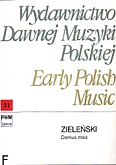 Okładka: Zieleński Mikołaj, Domus mea per quattuor vocum cum organo (partytura)