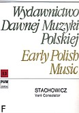 Okładka: Stachowicz Damian, Veni Consolator koncert na sopran, clarino i basso continuo (partytura + głosy)