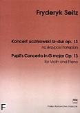 Okładka: Seitz Friedrich, Koncert uczniowski G-dur op. 13 (wyciąg fortepianowy)