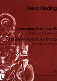 Okładka: Rieding Oskar, Concertino D-dur op. 25 (wyciąg fortepianowy)