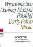 Ok�adka: Gorczycki Grzegorz Gerwazy, Os iusti meditabitur.Iustus ut palma florebit (partytura)