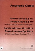 Okładka: Corelli Arcangelo, Sonata e-moll op. 5 nr 8; Sonata A-dur op. 5 nr 9