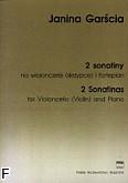 Okładka: Garścia Janina, 2 Sonatiny na wiolonczelę (skrzypce) i fortepian