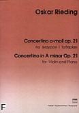 Okładka: Rieding Oskar, Concertino a-moll op. 21 w stylu węgierskim (wyciąg fortepianowy)