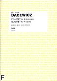 Okładka: Bacewicz Grażyna, Kwartet na 4 skrzypiec (partytura+głosy)