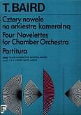 Ok�adka: Baird Tadeusz, Cztery nowele na orkiestr� kameraln� (partytura)