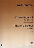 Ok�adka: Stamic Karel, Koncert D-dur nr 1 na alt�wk� i orkiestr� (wyci�g fortepianowy)