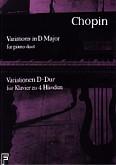 Okładka: Chopin Fryderyk, Wariacje D-dur na cztery ręce