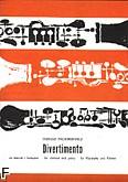 Okładka: Paciorkiewicz Tadeusz, Divertimento na klarnet i orkiestrę smyczkową (wyciąg fortepianowy)