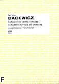 Okładka: Bacewicz Grażyna, Koncert na altówkę i orkiestrę (wyciąg fortepianowy)