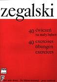 Okładka: Zegalski Jan, 40 ćwiczeń na mały bęben