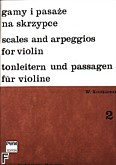 Okładka: Krotkiewski Witold, Gamy i pasaże na skrzypce z. 2