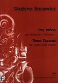 Okładka: Bacewicz Grażyna, Trzy tańce