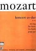 Okładka: Mozart Wolfgang Amadeusz, Koncert Es-dur KV 495 na róg i orkiestrę (wyciąg fortepianowy)