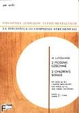 Okładka: Lutosławski Witold, 2 piosenki dziecinne (partytura + głosy)