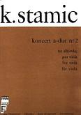 Ok�adka: Stamic Karel, II Koncert A-dur na alt�wk� i orkiestr� (wyci�g fortepianowy)