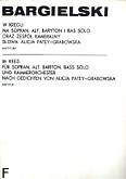 Ok�adka: Bargielski Zbigniew, W kr�gu na g�osy solo i instrumenty /part./